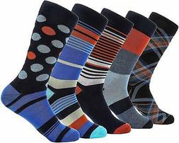Marino Mens Patterned Dress Socks, Colorful Fun Socks, Fashi