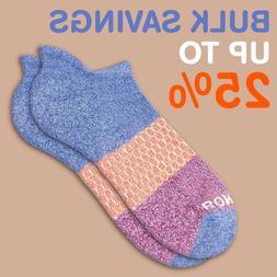 Marled-Violet-Magenta Bombas Tri-Color Men's Ankle Socks Med