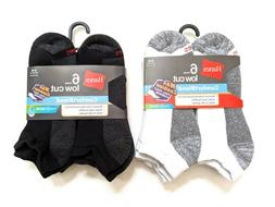 Hanes Mens ComfortBlend® Max Cushion Low Cut Socks Large Bl