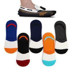Men Cotton Socks Invisible Pairs 5 Stripe US No Nonslip Mens