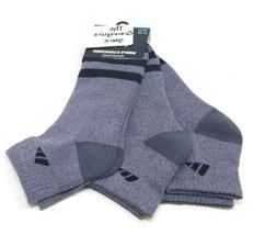 ADIDAS Men Cushioned Tennis Socks 3 Pair Quarter Training Si