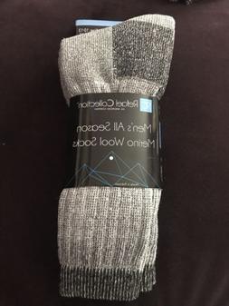 Men Heavy Duty Merino Wool Socks 2 Pack for Winter Ski & Tra