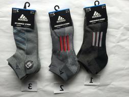Adidas Men Performance Quarter No Show Socks Climacool White