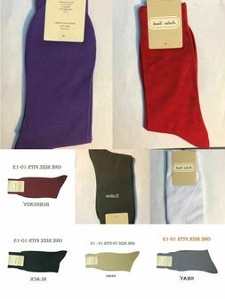 Men's 1 Pairs High Quality Solid Color Dress Socks One Size