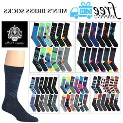 Men's James Fiallo 12 Pack Colored Dress Socks