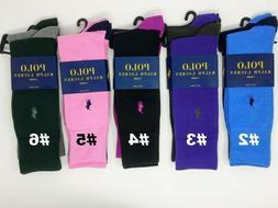 Polo Ralph Lauren Men's 2 Pack Contrast Heel Toe Crew Socks