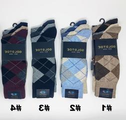 GOLD TOE Men's 3 pack Carlyle Argyle Crew Socks, 10-13, Mult
