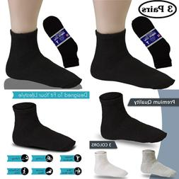 Men's 3 Pack Diabetic Ankle/Black Mens 10 13 Socks Hosiery