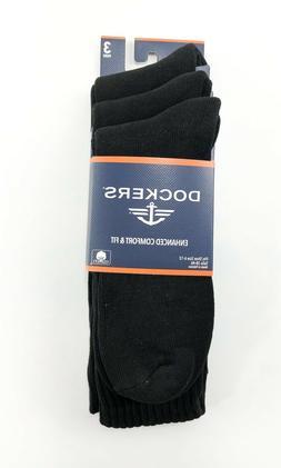 Dockers Men's 3 Pack Enhanced and Soft Feel Cushion Crew, Bl