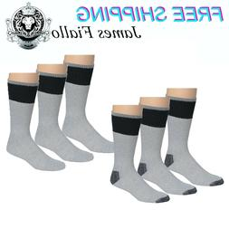 James Fiallo Men's 3 Pack Supper Extra Heavy Thermal Socks
