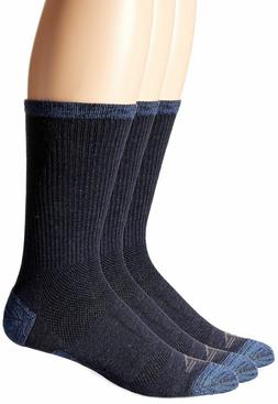 Dockers Men's 3 Pack Temperature Management Crew Socks Navy
