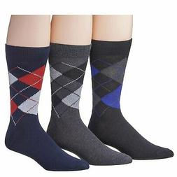 James Fiallo Men's 3-Pairs Colorful Patterned Dress Socks, F