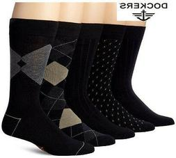 DOCKERS Men's 5-Pack Classics Dress Socks  Size 6-12 Multi-c