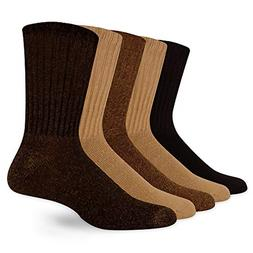 Dockers Men's 5 Pack Cushion Comfort Sport Crew Socks, Khaki