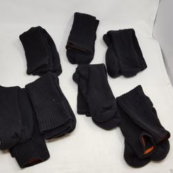 Dockers Men's 5 Pack Cushion Comfort Sport Crew Socks Black