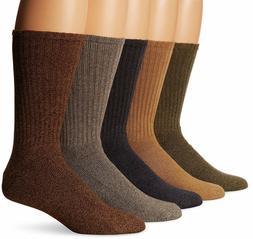 Dockers Men's 5 Pack Cushion Comfort Sport Crew Socks,6-12
