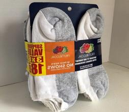 Fruit of the Loom Men's 6-12 No Show Value Pack Socks 18-Pac