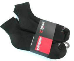 Reebok Men's 6 Pack Black DESTINATION XL Quarter Cut Socks R