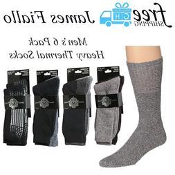 James Fiallo Men's 6 Pack Boot Socks