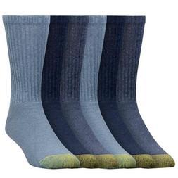 Gold Toe Men's 6-Pack Cotton Crew 656 Athletic Sock