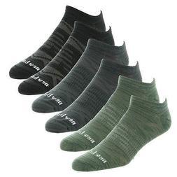 New Balance Men's 6-Pack Flat Knit No Show Socks,Large