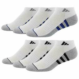Adidas Men's 6-pair Low Cut Sock with Climalite White Shoe S