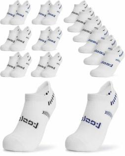 TSLA Men's S , Simple Comfort 6pairs - White