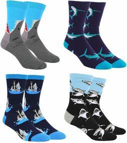Zmart Men'S Alien Flamingo Shark Cat Corgi Whale Socks, Funn