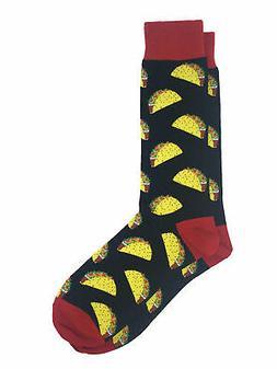 Men's All-Over Taco Food Novelty Socks Size 10-13 Black