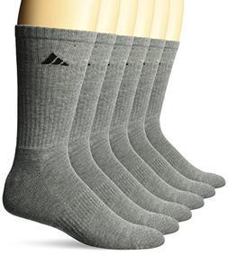 adidas Men's Athletic Cushioned Crew Socks , Medium Grey, X-