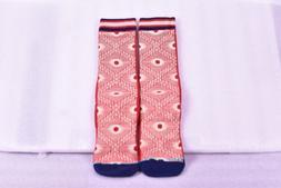 Men's Stance B Grade Egyptian Design Crew Socks- Red / Tan