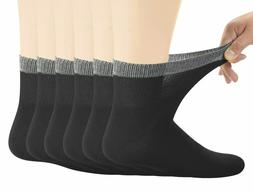 Men's Bamboo Diabetic Ankle Socks with Seamless Toe and Non-