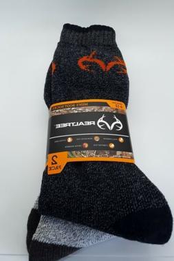 RealTree Men's Boot Socks 2 pairs size 6-12  Hiking Hunting