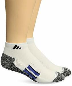 adidas Men's Climalite X II Low Cut Socks ,, Blue/Black, Siz