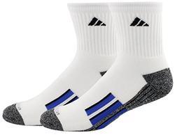 adidas Men's Climalite X II Mid-Crew Socks , Blue/Black, Siz