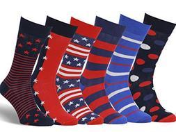 Easton Marlowe Men's Colorful American Flag Patriot Dress So