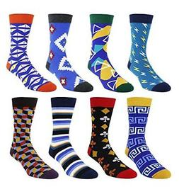 Zmart Men's Colorful Funky Dress Socks Cotton Fashion Argyle