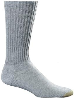 Gold Toe Men's Cotton Crew 6-Pack Socks - Large / Fits Men's