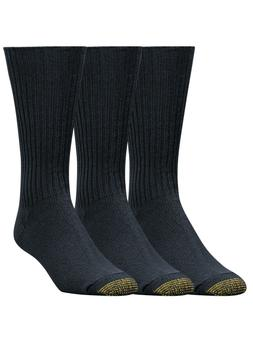 Gold Toe Men's Cotton Fluffies Crew Premium Dress Socks - 3