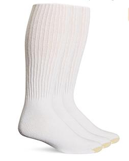 Gold Toe Men's Cotton Over the Calf Athletic Sock 3-Pack, Wh
