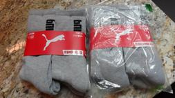 PUMA Men's Crew Socks cushioned Shoe Size 6-12 Athletic Spor