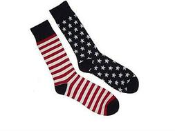 Men's Accents Crew Socks American Flag Stars & Stripes Novel