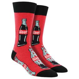 Socksmith Men's Crew Socks Coke Coca Cola Good To The Last D