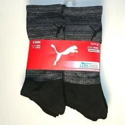 PUMA - Men's Crew Socks - Cushioned - 6 Pair - Shoe Size 6-1