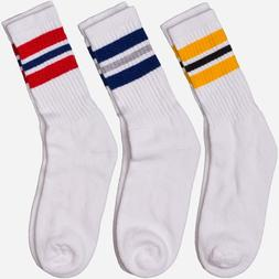 Men's Crew Socks Old School Shoes Classical 3 Stripes Retro