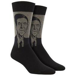 Socksmith Men's Crew Socks USA 40th President Ronald Reagan