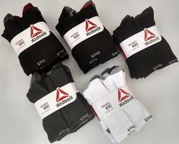 Reebok Men's Cushion Performance Training Crew Socks - 8 Pac