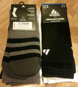 Adidas Men's Cushioned Crew Socks 3 Pair Shoe Size 6-12 Mult