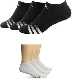 adidas Men's Cushioned No Show Socks, 3 Pairs, 2 Colors