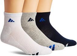 adidas Men's Cushioned Quarter Socks , Collegiate Navy/White